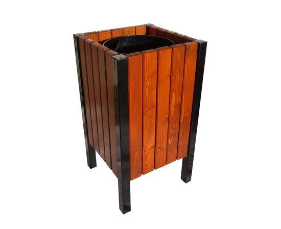 Tylko na zewnątrz Kosz drewniany Mirage   Kosze parkowe   Parkaria   Producent koszy QJ36