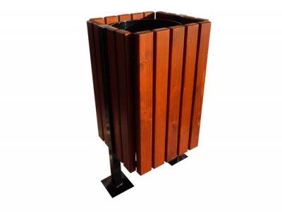 Kosze Nova stalowo-drewniane na śmieci
