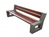 Ariela - ławka betonowa z oparciem