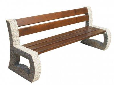 Ławka betonowa Astoria z oparciem