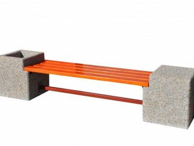 Ławka betonowa Bożena z donicą