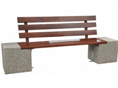 Ławka betonowa Bożena z oparciem