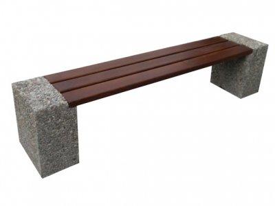 Ławka betonowa parkowa bez oparcia