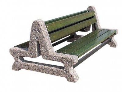 Podwójna ławka betonowa