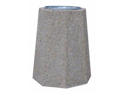 Największy kosz betonowy z wkładem metalowym