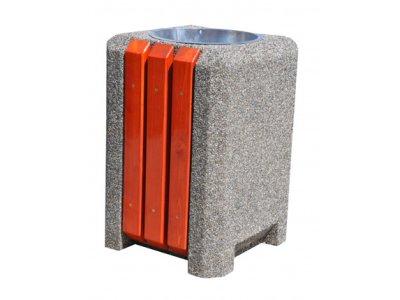 Kosze betonowo-drewniane
