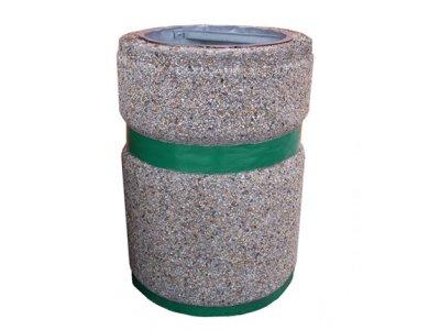 Kosz betonowy z malowanym pasem