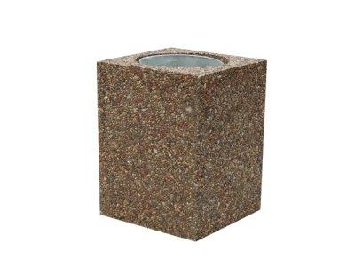 Betonowy kosz z wkładem metalowym