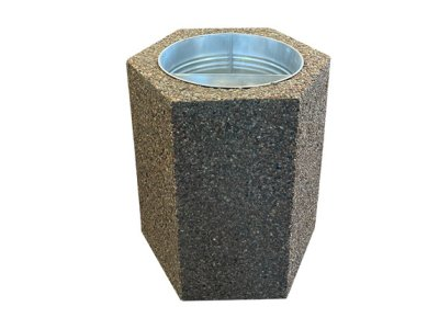 Sześciokątny kosz betonowy