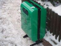 Zielony kosz na śmieci