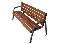 Miejska ławka z oparciem