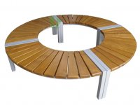Okrągła ławka metalowa