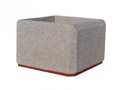 Ciężka donica betonowa