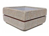 Ozdobne donice z betonu płukanego