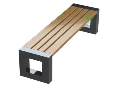 Masywna ławka Balma