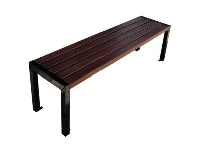 Miejska ławka bez oparcia