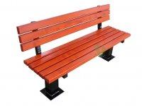 Parkowa ławka z oparciem
