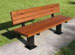 Masywna ławka stalowa