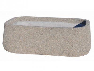 Duża donica owalna z betonu