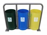 Parkowe kosze do segregacji śmieci