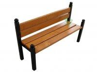 Miejska ławka z oparciem Merlo