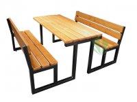 Stół parkowy Gloria z oparciem